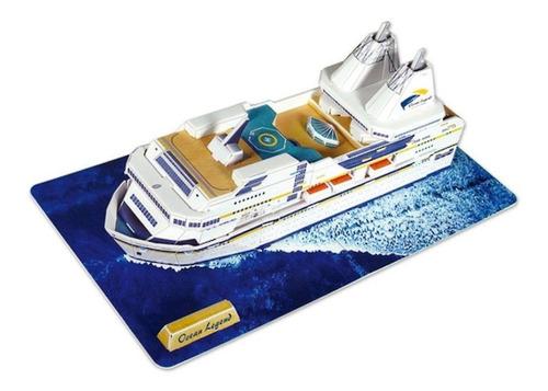 rompecabezas 3d ocean legend mini cruiseship 36 pzs cubicfun