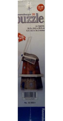 rompecabezas 3d ravensburger plástico molino  viento holanda