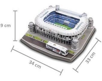 rompecabezas 3d real madrid estadio santiago bernabéu puzzle