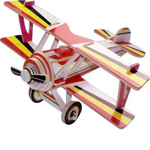 rompecabezas 3d realistas puzzle 3d madera niños ref: avión
