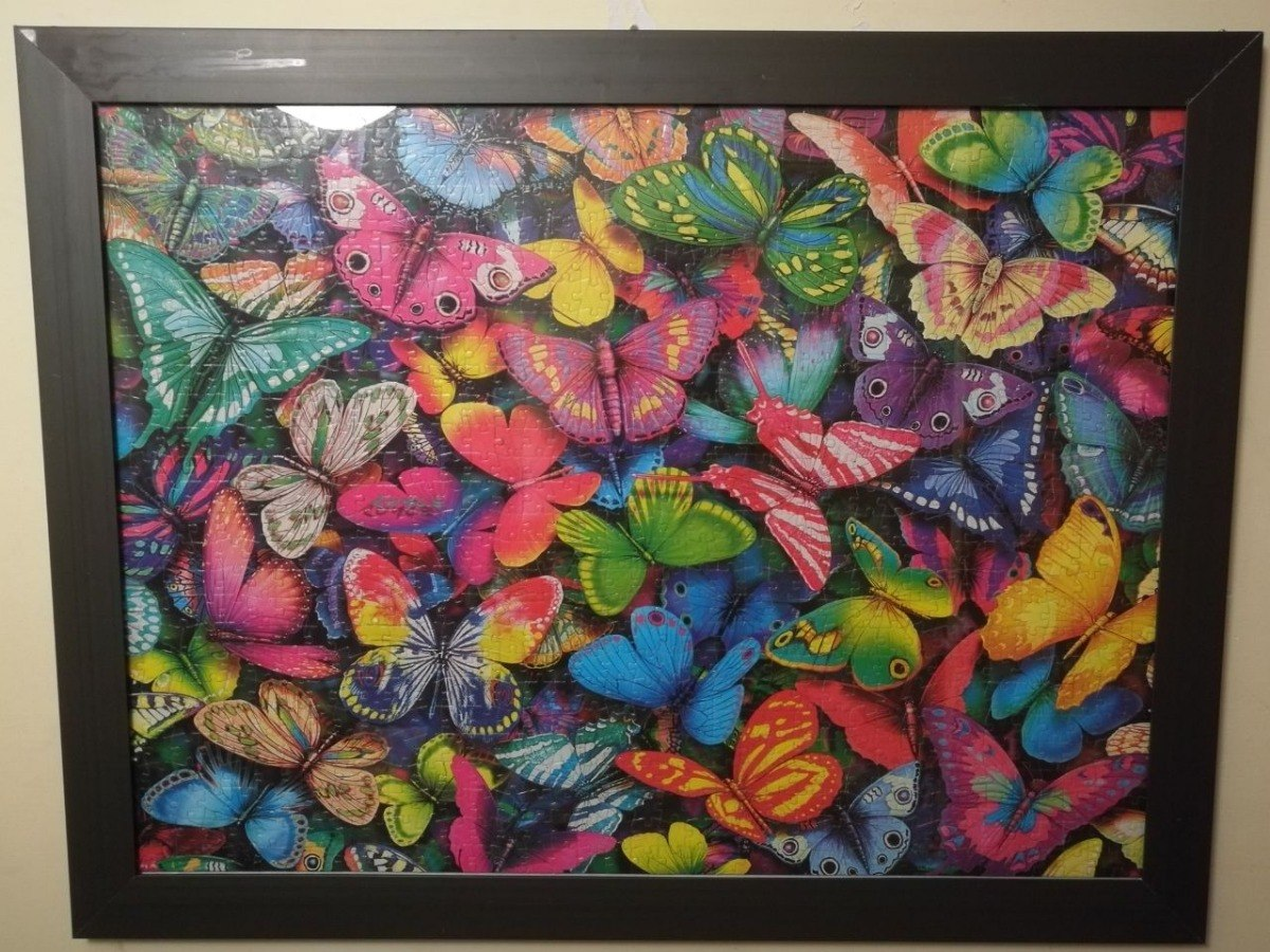 Rompecabezas Armado Y Enmarcado (mariposas) - $ 599.00 en Mercado Libre