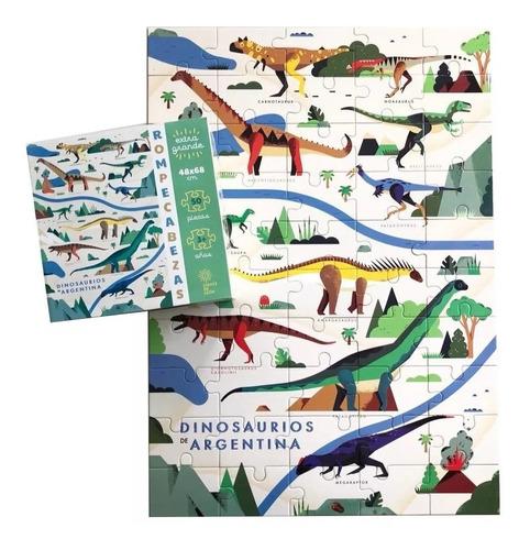 rompecabezas autóctono dinosaurios 50 piezas didactikids