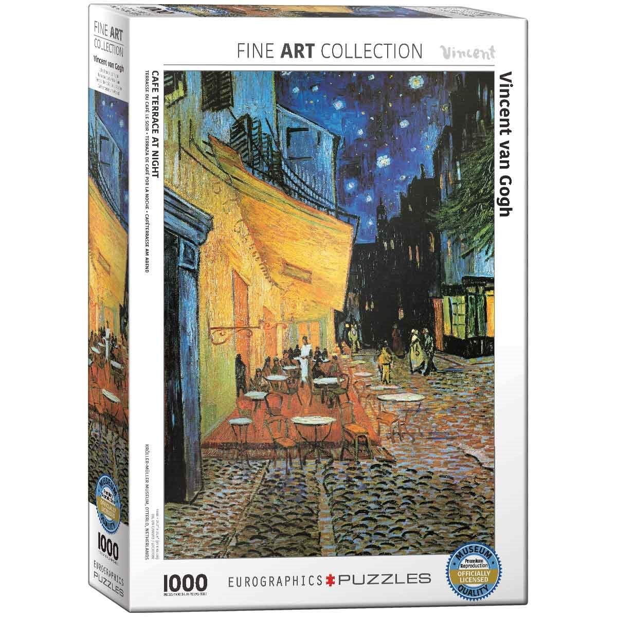 Rompecabezas Cafe Terraza Van Gogh 1000 P Eurographics 2143
