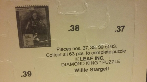rompecabezas collec de willie stargell de don rrus de 1991