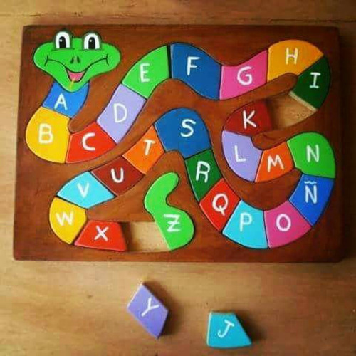 rompecabezas culebra abecedario didáctico