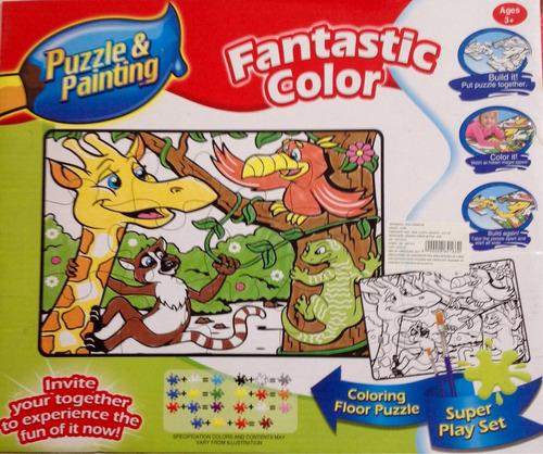 rompecabezas de 12 piezas gigante, para colorear  para niños