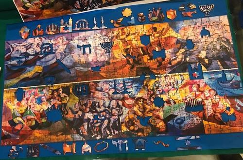 rompecabezas de 500 piezas: mural de festividades judías