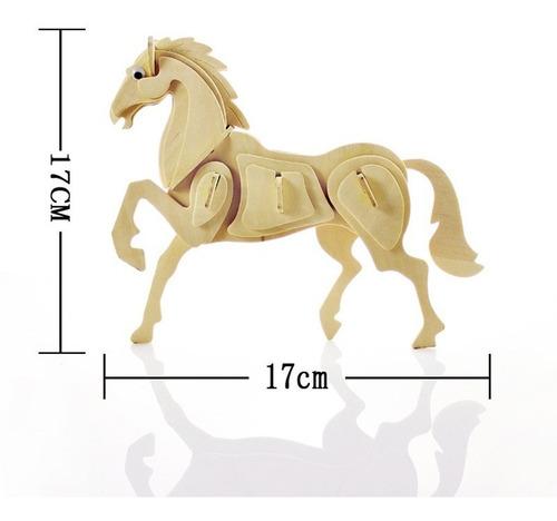 rompecabezas de madera 3d modelo caballo