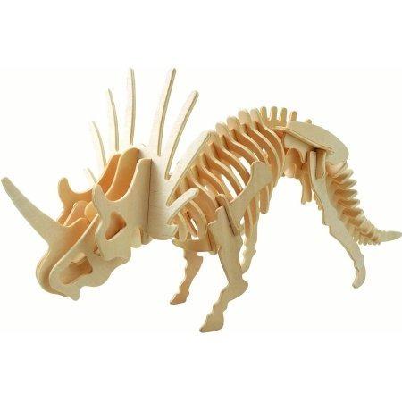 rompecabezas de madera 3d modelo dinosaurio styracosaurus