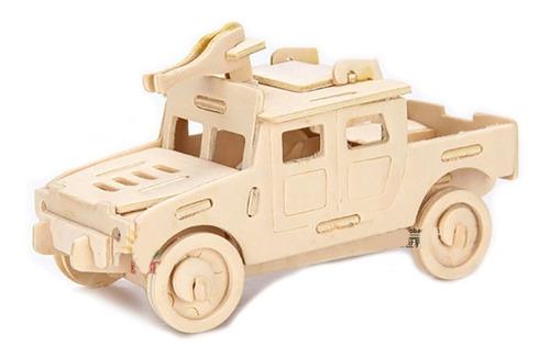 rompecabezas de madera 3d modelo hummer