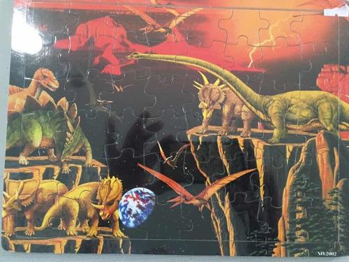 rompecabezas de madera dinosaurios