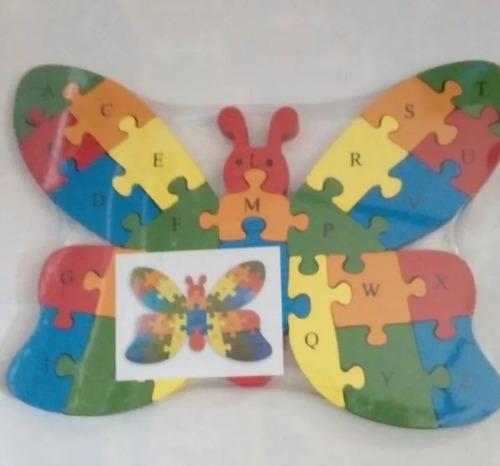 rompecabezas de madera educativo forma mariposa entrega ya!