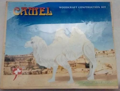 rompecabezas de madera forma camello en 3d despacho ya!!