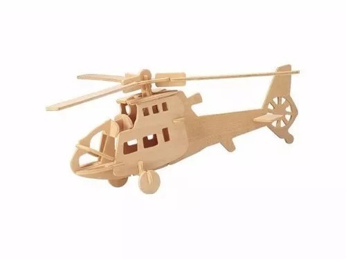 rompecabezas de madera helicóptero en 3d entrego ya!!!