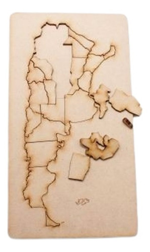 rompecabezas de madera mapa republica argentina 60x27cm