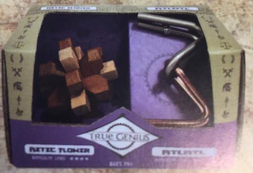 rompecabezas de madera true genius aztec mini 2-pack