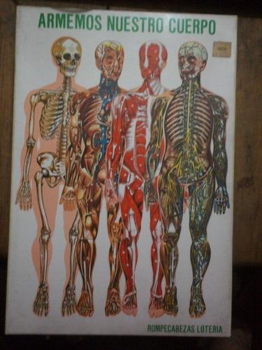 rompecabezas del cuerpo humano marca ronda (años 80)