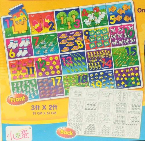 rompecabezas didáctico estudio de números infantil 0202