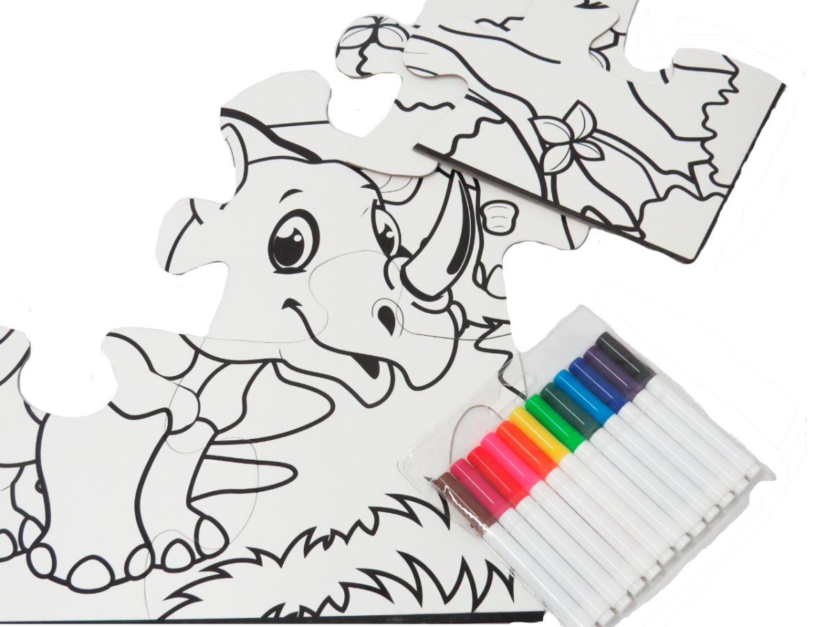 Rompecabezas Didáctico Jumbo Para Colorear 35920 En Mercado Libre