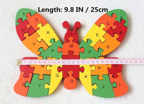 rompecabezas didáctico numeros y abecedario para niños bebes