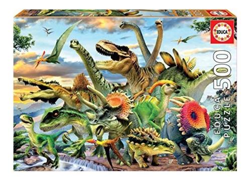 rompecabezas dinosaurios 500 piezas educa