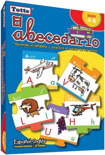 rompecabezas el abecedario español-inglés marca totte