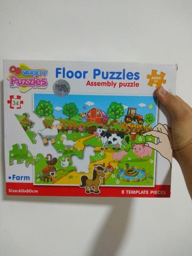 rompecabezas fichas gigantes tapete juego didáctico infantil