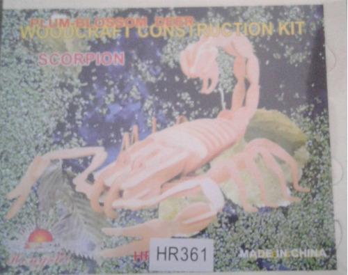 rompecabezas, figura armable de madera 3d escorpion decorar