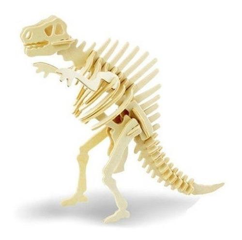 rompecabezas figura armable de madera3d espinosaurio decorar