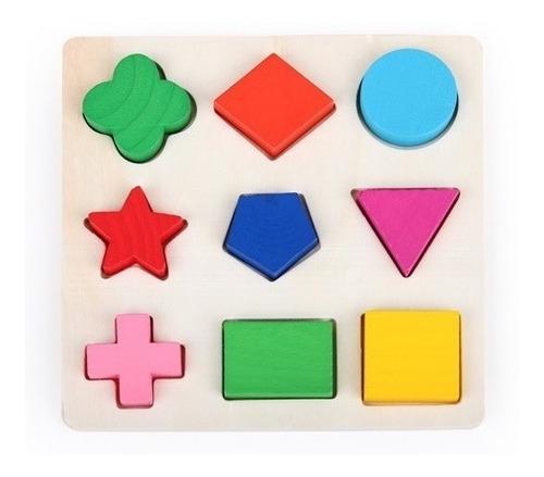 rompecabezas juguete didáctico geométrico infantil bebes