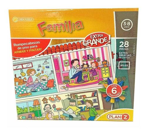rompecabezas la familia juegos didacticos 28 piezas grandes