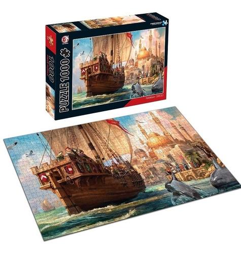 rompecabezas llegando al puerto hao xiang 1000 piezas