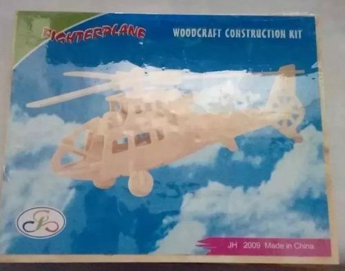 rompecabezas madera, helicóptero para construir entrega ya!