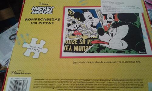rompecabezas mickey mouse disney 100 piezas ronda