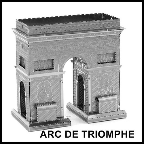 rompecabezas mini 3d metalico genial arco del triunfo