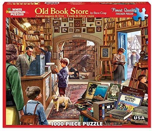 rompecabezas montaña blanca tienda libros viejos rompecabeza