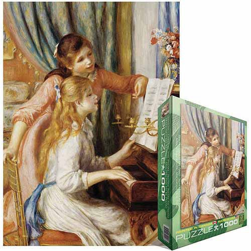 rompecabezas niñas en el piano de pierre auguste renoir