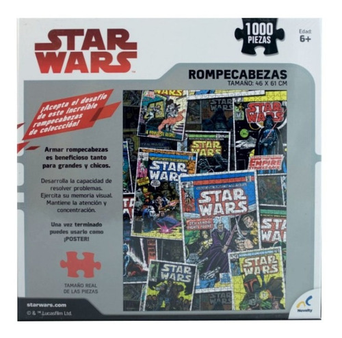 rompecabezas novelty star wars comic 1000 pza cartón 46x61
