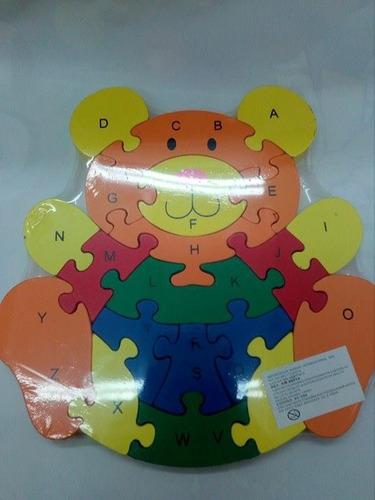 rompecabezas oso números y abecedario a-z para niños y bebes