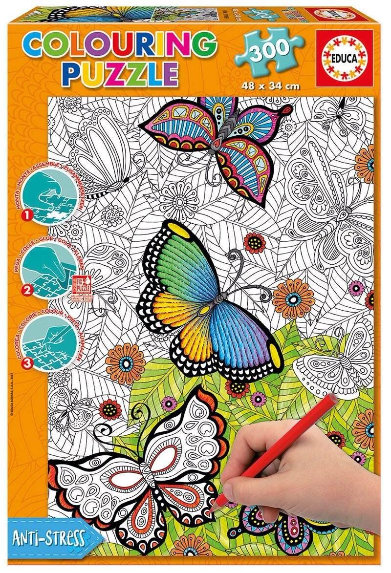 Rompecabezas Para Colorear Mariposas Póster Cuadro Diseño - $ 549.00 ...
