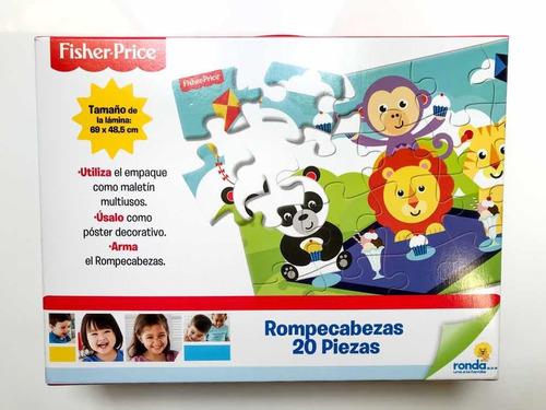 rompecabezas para niños fisher price 20 piezas animales