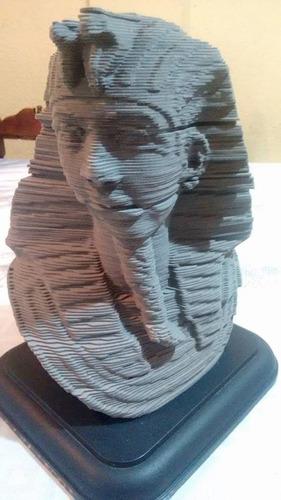 rompecabezas pieza decorativa 3d tutankhamon milton bradley