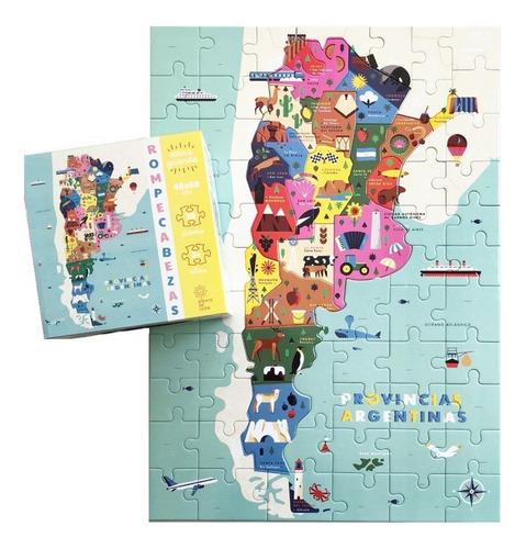 rompecabezas provincias argentinas mapa 77 piezas 48x68cm