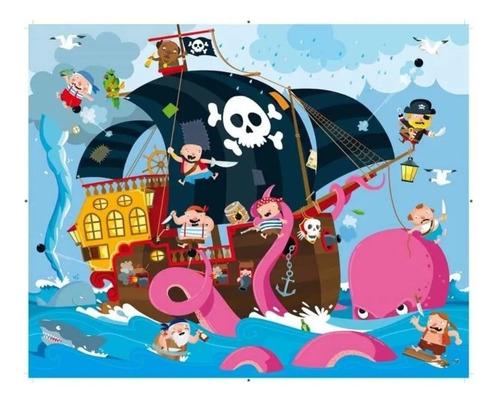 rompecabezas puzzle 30 piezas gigante con libro los piratas