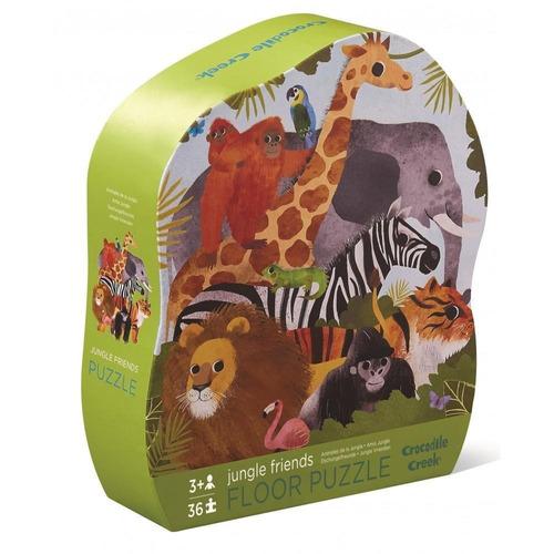 rompecabezas puzzle de 36pzs jungle friends amigosdelajungla