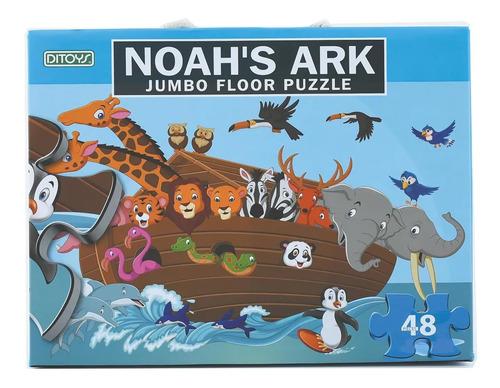 rompecabezas puzzle valija jumbo 48 piezas plastificadas