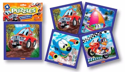 rompecabezas puzzle x 4 transportes duravit vavi toys