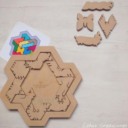rompecabezas puzzle zoo -corte láser-