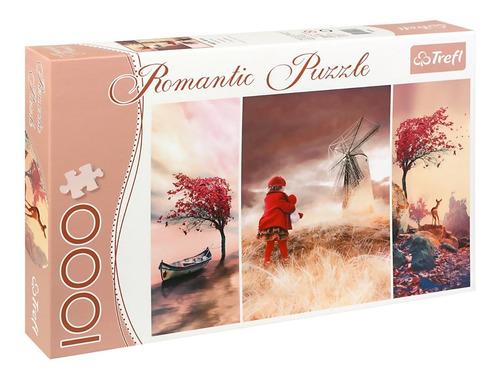 rompecabezas  romantic puzzle 1000 p original