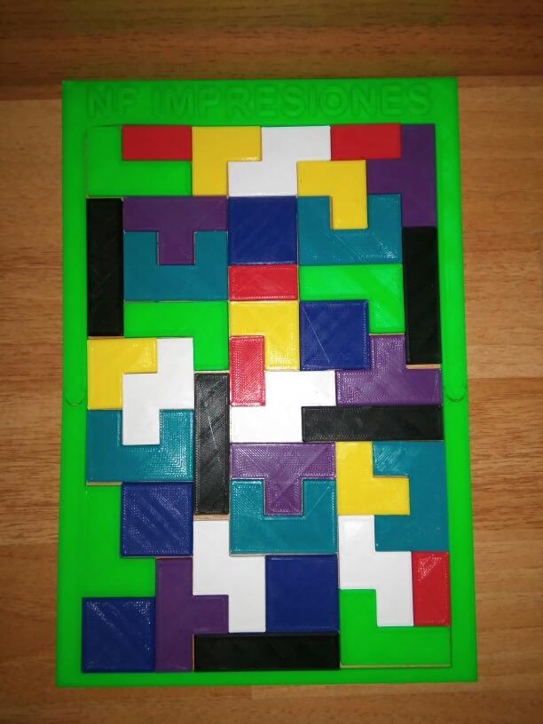 Rompecabezas Tetris Marco Con Tu Nombre Ingenio. Didáctico - $ 386 ...